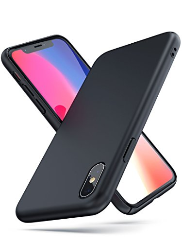 PowerBear Thin iPhone X/XS Case | iPhone Slim Fit Case | Ultra Thin Sleek and Slim | Scratch and Scuff Resistant Ultra-Durable Soft Touch Finish | for The Apple iPhone X and XS [24 Month Warranty]