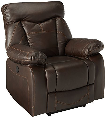 Zimmerman Power Glider Recliner with Pillow Arms Dark Brown -  Coaster, 601713P