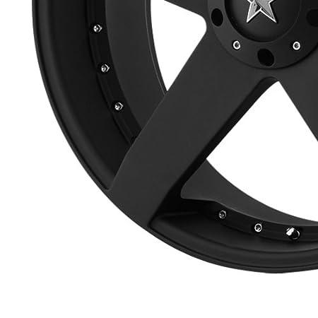 18x8//4x100mm KMX Wheels Rockstar Car KM7757 Matte Black Finish Wheel