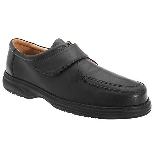 Larges Roamer Noir Homme De Scratch En Ville Sangle Superlite Chaussures Avec Cuir qPrIq