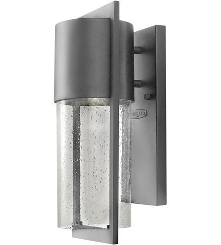 Wall Sconces 1 Light with Hematite Clear Seedy Solid Aluminum Medium Base 16 inch 75 Watts