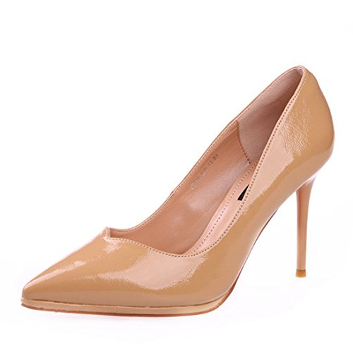 FLYRCX Unión señaló stilettos en primavera y verano señoras charol zapatos de trabajo sexy zapatos de moda. a