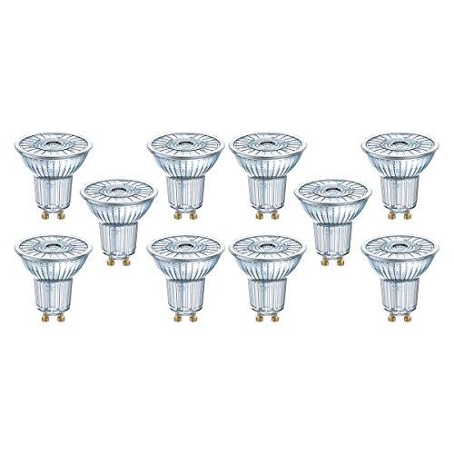 Osram Star Par16 3536 Bombilla LED GU10, 2.6 W, Blanco, 5.5 x 5.0999999999999996 x 5.0999999999999996 cm, 10 Unidades