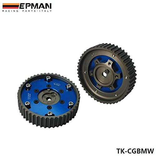 Blue, Pack Of 2 EPMAN Adjustable Cam Gears Timing Gear Pulley Kit For BMW E21 E28 E30 E34 E36 318i Z1 M20
