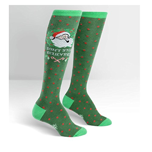 Sock It To Me, Knee High Funky Socks: Seasons Greetings - Christmas Holiday (Multi-color)