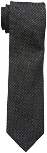 Calvin Klein Men's Gold Glimmer Micro Tie, black, One Size