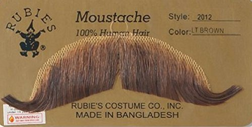 Rubie's Gentlemans Light Brown European Mustache for $<!--$11.99-->
