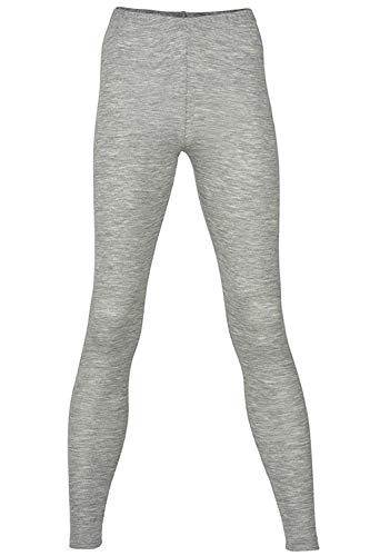 Thermal Underwear Leggings for Women – Merino Wool Base Layer Long Johns Pajama (EU 46-48 | Large, Grey)