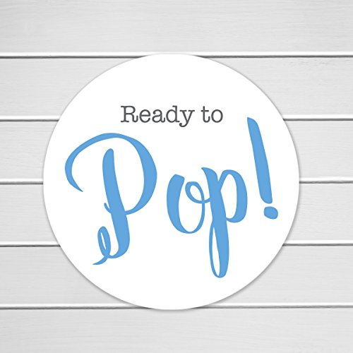 40-Ready To Pop Labels, Baby Shower About To Pop Stickers-Choose your color (#368) - Baby Shower Labels