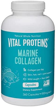 Vitamins & Supplements: Vital Proteins Marine Collagen Capsules