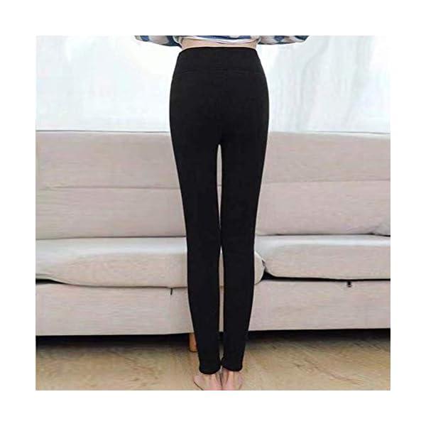 ORANDESIGNE Femme Leggings Thermiques Épais Doublés d'hiver Collant Extensible Pantalon De Crayon pour Le Velours Chaud