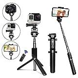 Selfie Stick Tripod [Upgraded] - PEYOU 4in1 Mini Bluetooth Selfie Stick Extendable Monopod Tripod Stand w Remote Shutter Compatible Gopro Camera - iPhone X 8 7 6 6S Plus - Samsung Note 8 S9 S8 Plus S7