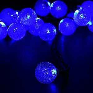 Solar luces de Navidad 4.8m 20LED burbuja solar luces cadena para casa, Navidad, jardín, boda, decoración del partido impermeable