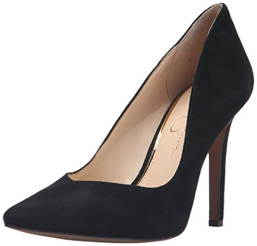 Jessica Simpson Women's Cylvie Dress Pump, Black Suede, 7.5 M US
