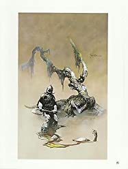 """1975 full Color Plate /"""" Woman With A Scythe/"""" by Frank Frazetta Fantastic"""
