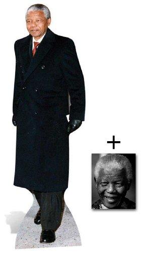 Mandela Nelson Photo (Commemorative Pack - Nelson Mandela Lifesize Cardboard Cutout / Standee - Madiba - Includes 8x10 (20x25cm) Commemorative Photo)