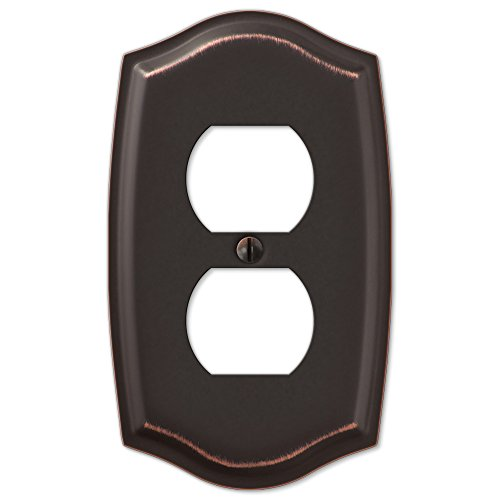 - Single Duplex Switch Plate Outlet Cover Rocker Toggle Light Wall Plate - Oil Rubbed Bronze