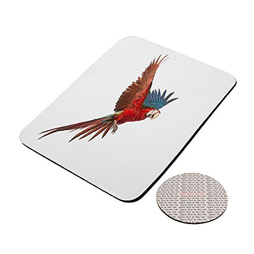 Green Winged Macaw Mousepad (Macaw Plate)