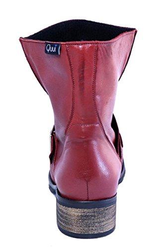 Quui Minya, Damen Biker Boots Burgunderrot