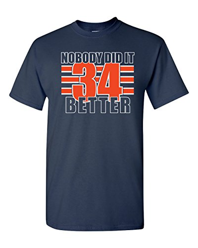 Jacted Up Tees Nobody Did It Better - Walter Payton Men's T-Shirt SHIPS FROM OHIO USA