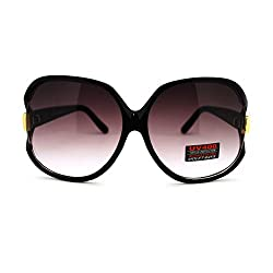 Womens Extra Oversized Round Designer Fashion Exposed Lens Butterfly Sunglasses Tortoise