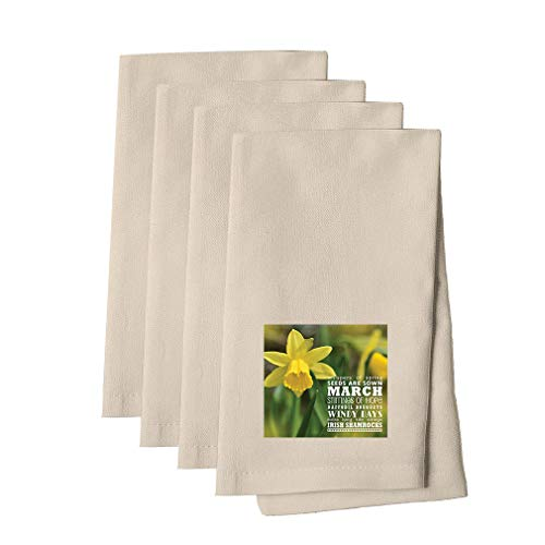 Whisper Linen - Whispers From Would Walk Of Trust #1 Cotton Canvas Dinner Napkin, Set of 4