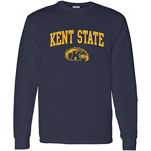 AL03 - Kent State Golden Flashes Arch Logo Long Sleeve - Medium - -