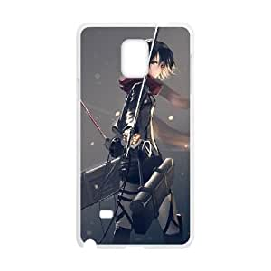 Attack On Titan Samsung Galaxy Note 4 Cell Phone Case White Exquisite designs Phone Case KMJ64599