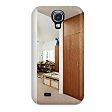 PraJDPY23710YrDad Case Cover White Contemporary Kid8217s Bedroom With Wood Closet 038 Colorful Coat Hooks Galaxy S4 Protective Case