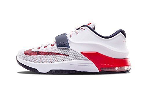Mens Nike Kd 7 Basketskor - 653.996 146 Vit / Universitet Röda // Obsidian