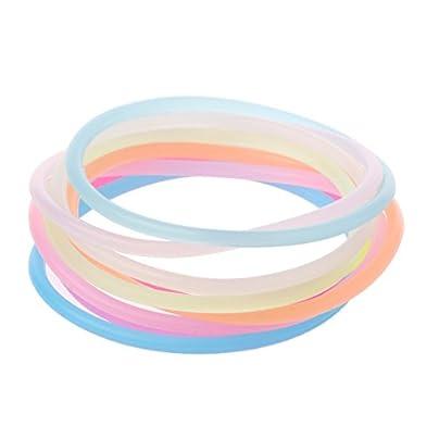 10PCS Night Luminous DIY Rubber Hairbands Bracelets Wristband Gummy Silicone Estimated Price £1.49 -