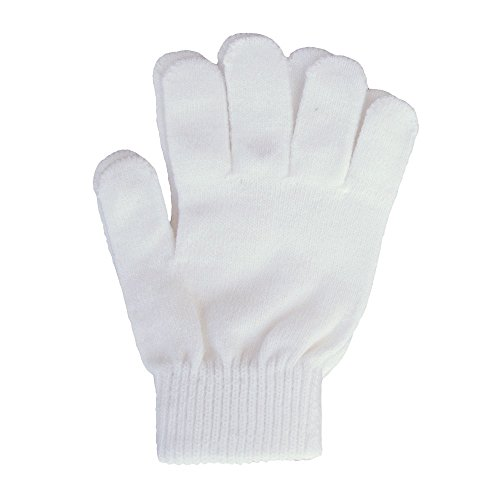 A&R Sports Knit Gloves, White, One Size -
