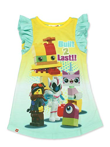 6d2138cd18 Lego Movie 2 The Second Part Toddler Girls Ruffle Cap Sleeve Nightgown  Pajamas