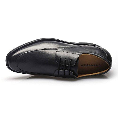 CHAMARIPA Chaussures Réhaussantes souple de couleur noir Pour Homme Soulier polyvalent, faot grandir de 9 cm