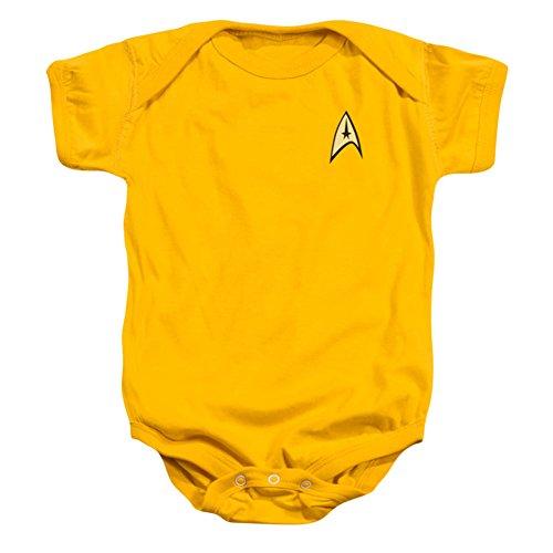 Star Trek - Command Uniform Infant Snapsuit T-Shirt, Gold, 24M