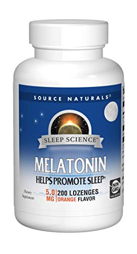 (Source Naturals Sleep Science Melatonin 5mg Orange Flavor - 200 Lozenges)