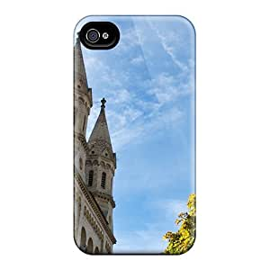 MarcClements Apple Iphone 4/4s High Quality Hard Phone Cover Provide Private Custom High-definition Old Church Skin [AwM24400XHRN]