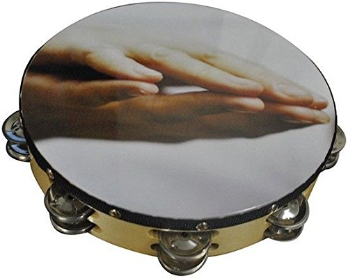 10 Praying Hands Double Row Jingles Percussion Tambourine for Church
