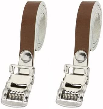 Leather Double Toe Straps Bike M.T.B Fixie Bicycle Pedal Strap White Road