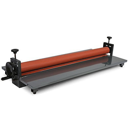 OrangeA Cold Laminator Roll Laminator Cold Laminating Machine 39 Inch 4 Roller System Manual Vinyl Photo Film(39 Inch) (Cold Roll Laminator)