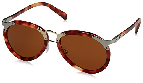 Prada PR 01TS U642Z1 Red Havana Aviator - Prada Sunglasses Mens Red