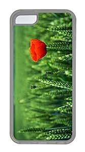 iPhone 5c Case Unique Cool iPhone 5c TPU Transparent Cases Lone Poppy Design Your Own iPhone 5c Case