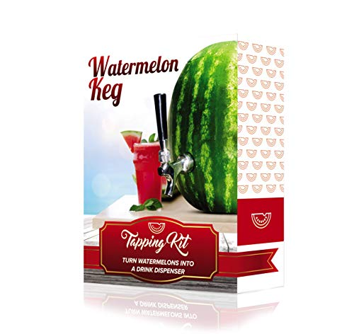 Fruit Keg Tapping Kit - Use it to do a Pumpkin or Watermelon Drink Dispenser. Make your Own Fun Home Bar Watermelon Keg and get a Great Beverage Dispenser to Cocktail Party Supplies. -