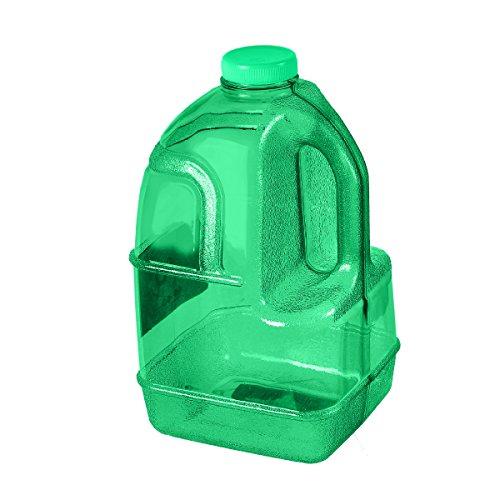 GEO 1 Gallon (128oz) BPA Free Reusable Leak-Proof Drinking Water Bottle Jug w/48mm Screw Cap (Green)