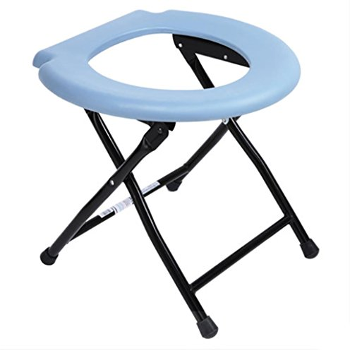 Xuan Folding Commode Chair Steel Portable Camping Toilet