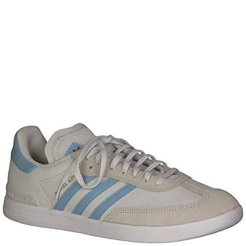 (adidas Men's Samba ADV Fashion Sneakers Crystal White/Clear Blue/Cloud White 8 D(M) US)