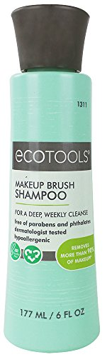 Ecotools Makeup Brush Cleansing Shampoo, 6 Ounce (Best Makeup Brush Shampoo)