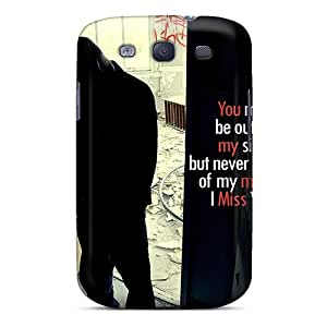 Galaxy S3 Hard Back With Bumper Silicone Gel Tpu Case Cover Miss U