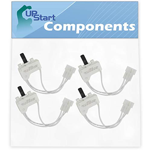 4-Pack 3406107 Dryer Door Switch Replacement for Whirlpool & Maytag Dryers - Compatible with Part Number AP6008561, 3405100, 3405101, 3406100, 3406101, 3406109, PS11741701 ()