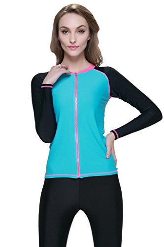 Women's Long-Sleeve Zip-Up Rashguard